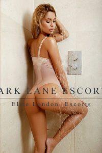 model escort Noell in shower